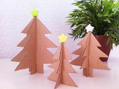 Como hacer árbol de Navidad cartón