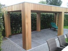 The wooden pergola is a good solution to add beauty to your garden. If you are not ready to spend thousands of dollars for building a cozy pergola then you may devise new strategies of trying out something different so that you can re Carport Designs, Pergola Designs, Pool Designs, Backyard Studio, Backyard Patio, Backyard Landscaping, Outdoor Garden Rooms, Outdoor Living, House Extension Design
