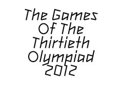 2012 olympic games london typeface Gareth Hague