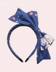 Japanese Butterfly headbow (2017) in Navy×Pink by Innocent World
