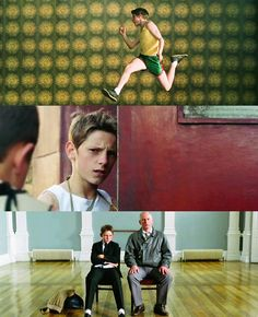 - Listen, have you noticed anything weird about our Billy lately? - What are you after like, a list? A collage of stills from Billy Elliot