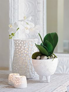 ♥ White orchid ♥ decor