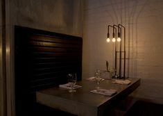 Really cool lighting fixture | Workshop Kitchen + Bar, Palm Springs CA