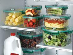 Organizar a geladeira evita o desperdício.