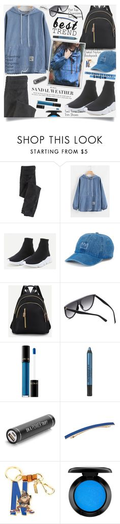 """Shein Denim Sweatshirt Style"" by lillili25 ❤ liked on Polyvore featuring Wrap, SO, Lancôme, Kenneth Cole, L. Erickson, Moschino, John Lewis and polyvoreditorial"
