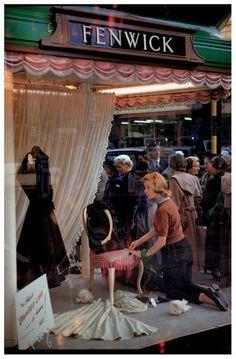 Fenwick store window, London. 1953 by Inge Morath