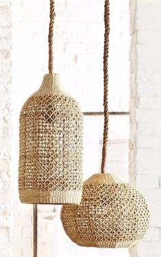 Abaca Woven Pendants by Roost