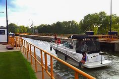 Pleasure craft at Lock 7, Champlain Canal (south of Fort Edward).  Photo: Kendall McKernon