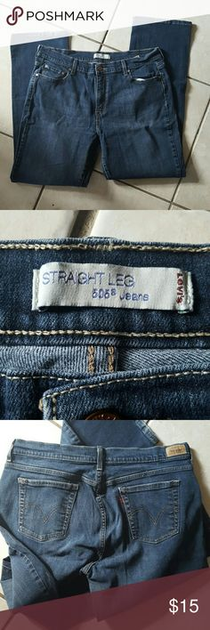 Levis 505 straight leg jeans Barely worn. Great condition. Straight leg. Size 16 M. Levi's Jeans Straight Leg