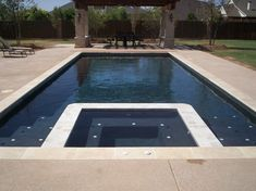 pool with integrated spa | Modern Pool Coping - Above Ground Pool Fence Pool Beach With Coping ...