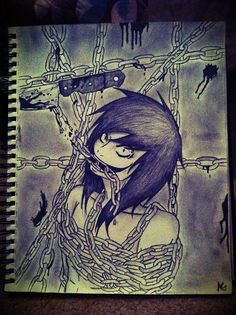 Amazing jeff the killer drawing, he's goona escape some time