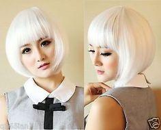 New-Fashion-Womens-Bob-White-Lady-Short-Straight-Hair-Full-Wigs-Cosplay-Costume
