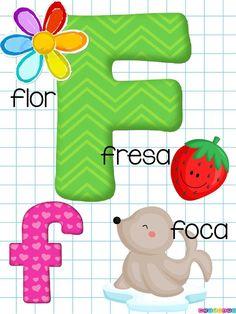 Bonito abecedario a todo color -Orientacion Andujar Alphabet Letters Images, Alphabet Letter Templates, Alphabet Cards, Preschool Education, Preschool Learning Activities, Kindergarten Worksheets, Phonics Flashcards, Teaching Materials, Baby Grows