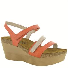 "Naot Women's ""Canaan"" from the Genesis Collection in the Peach/Linen Leather combination! Available in more colors! #Naot #NaotFootwear #Comfort #Fashion #Sandals #Wedges #NewStyles #WomensFashion #SpringHasSprung"