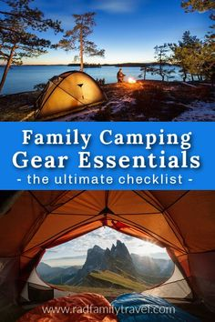 Family Camping Gear Essentials: The Ultimate Checklist! Planning an outdoor adventure road trip for when you're ready to travel? Use this FREE PDF to make sure you don't miss a single thing when you pack up. #camping #checklist #packlist #printable #camper #adventure #travel