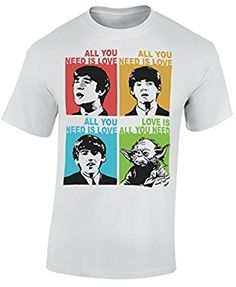 All you need is love Beatles Yoda Mens T-Shirt: Amazon.co.uk: Clothing
