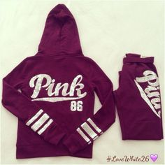 hoodie • sweat pants • bling • vs pink