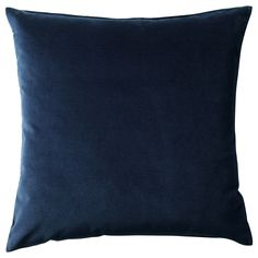 IKEA - SANELA, Cushion cover, dark blue, Cotton velvet gives depth to the color and is soft to the touch. The zipper makes the cover easy to remove. Large Throw Pillows, Blue Pillows, Sofa Pillows, Decorative Pillows, Blue Pillow Covers, Cushion Covers, Blue Couches, Living Room Pillows, Home Decor Hacks