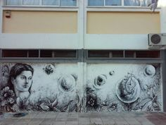 School mural by Leo Giannakopoulou. The Wall that's Dreaming