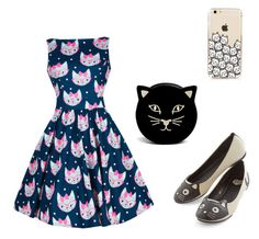 """""""Kitty Cat Out Fit So Cute😂"""" by catzmeow ❤ liked on Polyvore featuring Charlotte Olympia"""