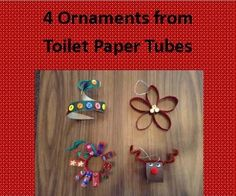 MACARONI CRAFT: UPCYCLED CHRISTMAS ORNAMENTS | Here are four easy ornaments your family can make out of empty toilet paper tubes and extra craft materials.
