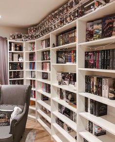 Super home library organization reading nooks 40 Ideas Library Bedroom, Bedroom Decor, Home Library Design, House Design, Library Bookshelves, Bookcase, Bookshelf Inspiration, Book Nooks, Reading Nooks