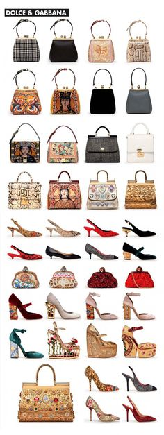 Dolce & Gabbana accessories a/w 2013 - I adore those handbags!