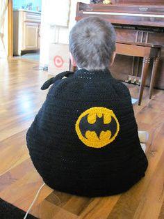 Batman Cape Crochet Pattern by Laura Michaels