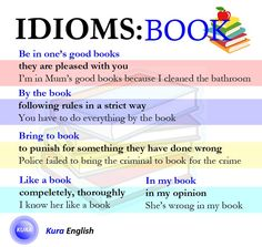 Idioms related to book