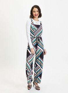 c9e8fa3346 PETITE Multi Coloured Striped Belted Jumpsuit. Petite JumpsuitPetite  PlaysuitsJumpsuitsOverallsMonkeysBodysuit FashionJumpsuitRompersBody Suits