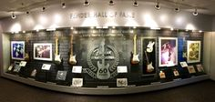 Fender Hall of Fame at the Corona factory in California, USA.