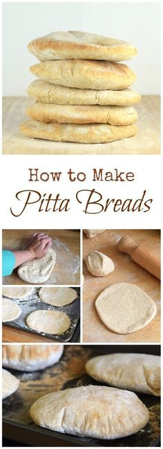 How to make your own pitta breads - easy pitta bread recipe made with spelt and white flours from Eats Amazing UK - great for baking with kids! Home made bread! Pitta Bread Recipe, Humus Recipe, Bread And Pastries, Bread Baking, Bread Food, Food To Make, Food And Drink, Cooking Recipes, Spelt Recipes