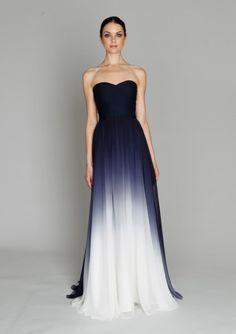 Navy Ombre Dress by Monique Lhuillier from The Sweetest Occasion