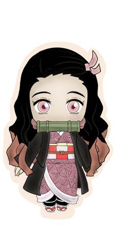 Demon Slayer: Kimetsu no Yaiba. Nezuko Kamado Stickers - Glossy