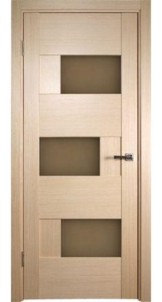 """""""Dominika"""" Bleached Oak Interior Door with Bronze Glass"""