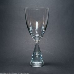 Holmegaard Princess goblet crystal beer glass Bent Severin 1957 Denmark