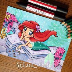 Ariel [as a mermaid] (Chibis by Ltia_Chan @Instagram) #TheLittleMermaid