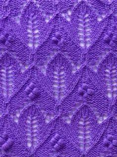 Tulip Knit Stitch Pattern #Knitting http://knitchart.com/item/tulip-knit-stitch-pattern-2.html