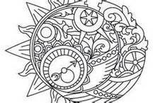 Steampunk Gears Coloring Pages