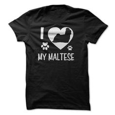 I Love My Maltese T Shirts, Hoodies. Get it here ==► https://www.sunfrog.com/Pets/I-Love-My-Maltese.html?41382