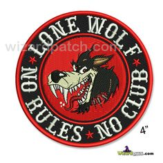 """*NEW* LONE WOLF NO RULES NO CLUB 4"""" DISC PATCH – WizardPatch™"""