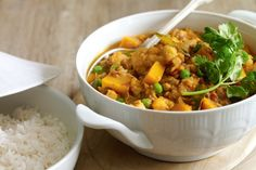 A curry is a simple way to liven up the week. This one's hearty and full of healthy legumes.
