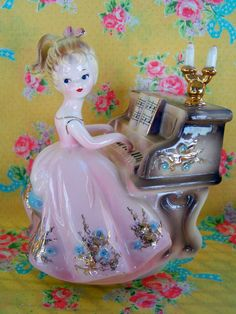 Mothers DayVintage Josef Originals Piano Figurine by KittyKatDance, $42.00