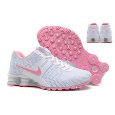newest 1e502 43fca Women Nike Shox 2016 Shoes White Pink Chaussures Nike, Chaussures De Course  Nike Pas Chères