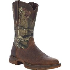 "Cyber Monday $20 off! Lady Rebel by Durango: Women's 10"" Brown Leather and Camouflage Western Boots - Style #RD4406 - Durango Boot Company"