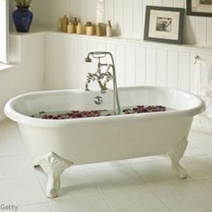 love the old school bath tubs for-the-home