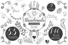 Handmade Florals by Buni Line on @creativemarket