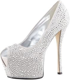 Giuseppe Zanotti Crystal Exaggerated Platform Pump - Lyst Giuseppe Zanotti Heels, Zanotti Shoes, Silver Pumps, Glitter Pumps, Suede Platform Pumps, Hot Heels, Beautiful Shoes, Shoe Collection, New Shoes