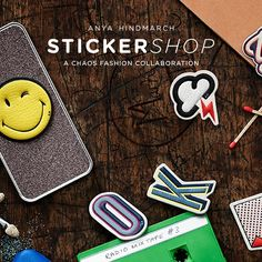 Just arrived: shop the Anya Hindmarch #StickerSHOP online and in store. Created in collaboration with @chaosfashiondotcom, these luxurious leather #stickers can be used to personalise anything from your bag to your phone. Find out more at anyahindmarch.com/stickershop