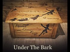 Solid Oak Pan Toy Box by UnderTheBarkDesigns on Etsy
